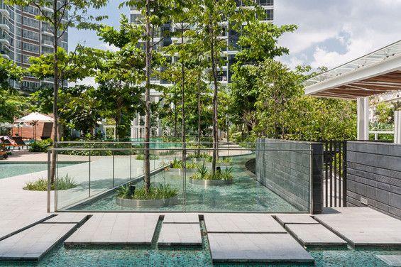 Cyan Singapore Ong Ong World Landscape Architecture Luxury Garden Pool Landscape Design Apartment Garden