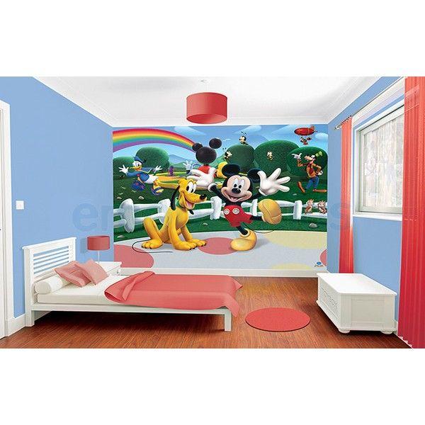 Grand papier peint Mickey Mouse - peinture murale pour chambre de