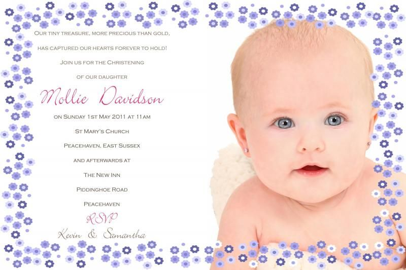 Ellie photo christening invitation christening invitations ellie photo christening invitation stopboris Images