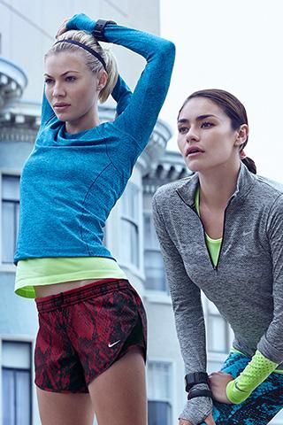 Nike Running Look - Featuring Nike Dri-FIT Knit Long-Sleeve Crew