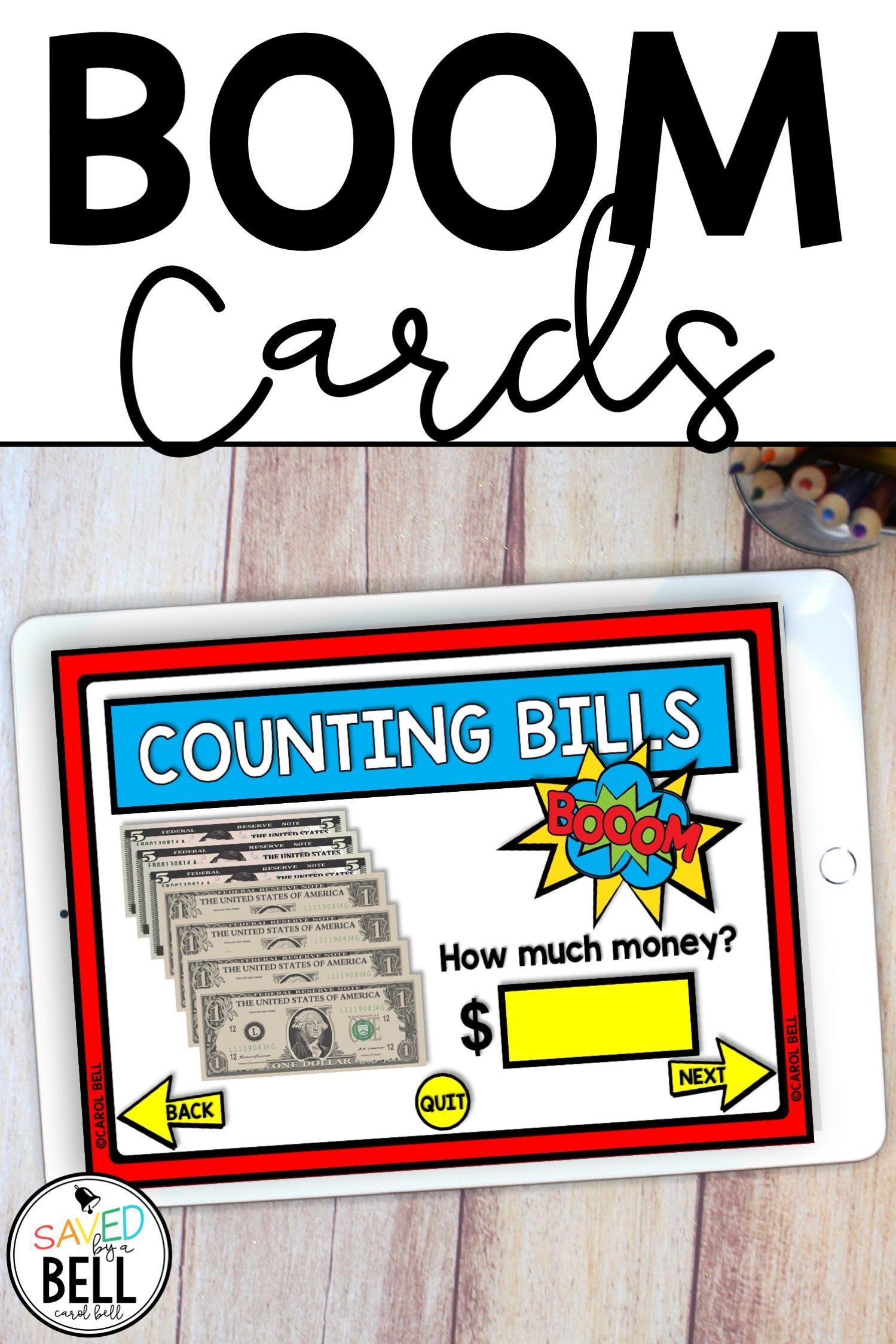 Counting Money Bills Digital Task Cards