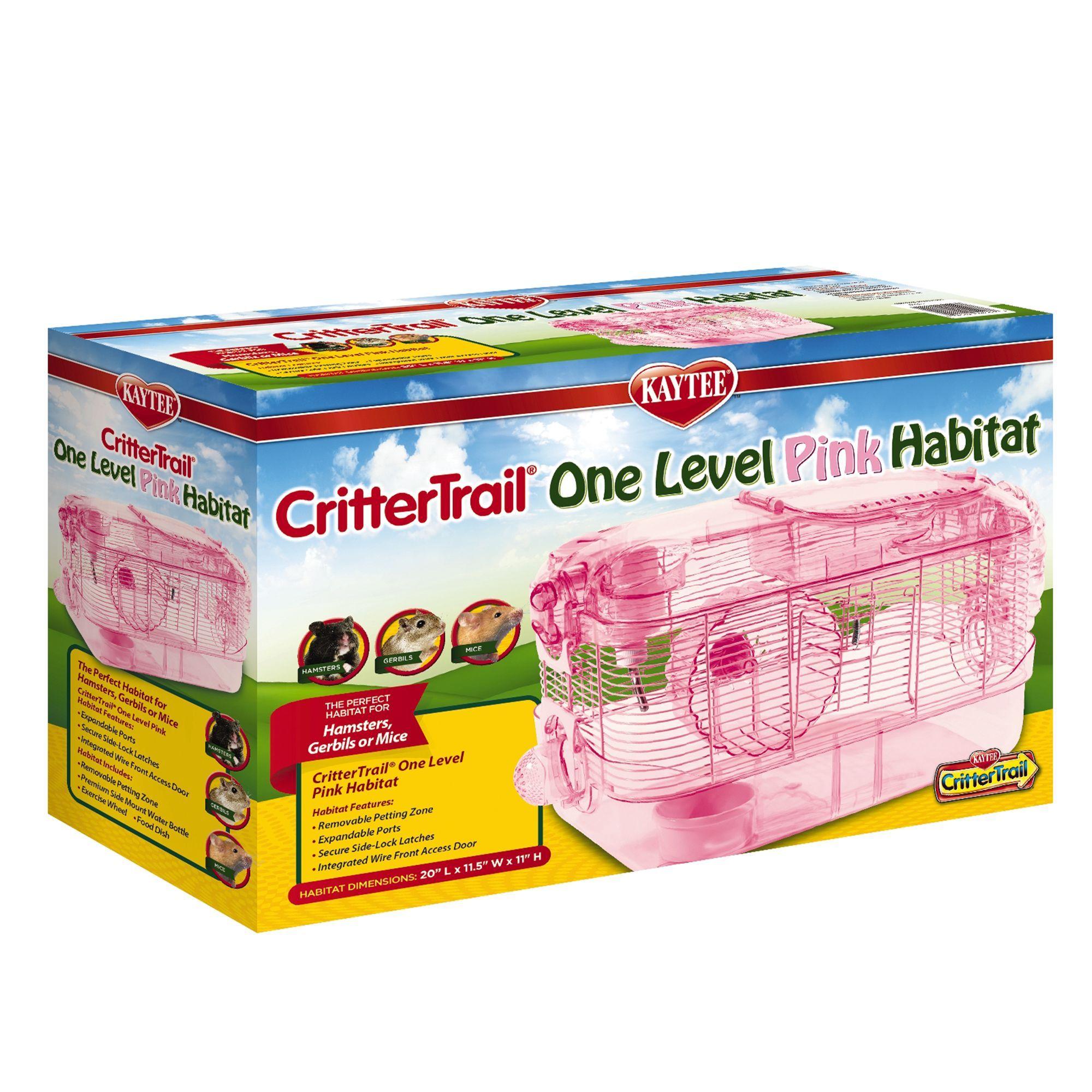 Kaytee Crittertrail One Level Pink Habitat Small Pets Habitats Pet Spray