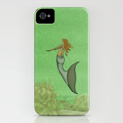 The Golden Mermaid iPhone Case by Camilo Nascimento - $35.00