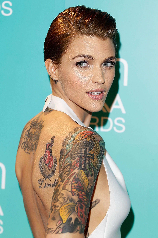 Actriz Americana Porno Tatuada Y Pelo Rapado wcw: ruby rose | ruby rose, ruby rose tattoo, ruby