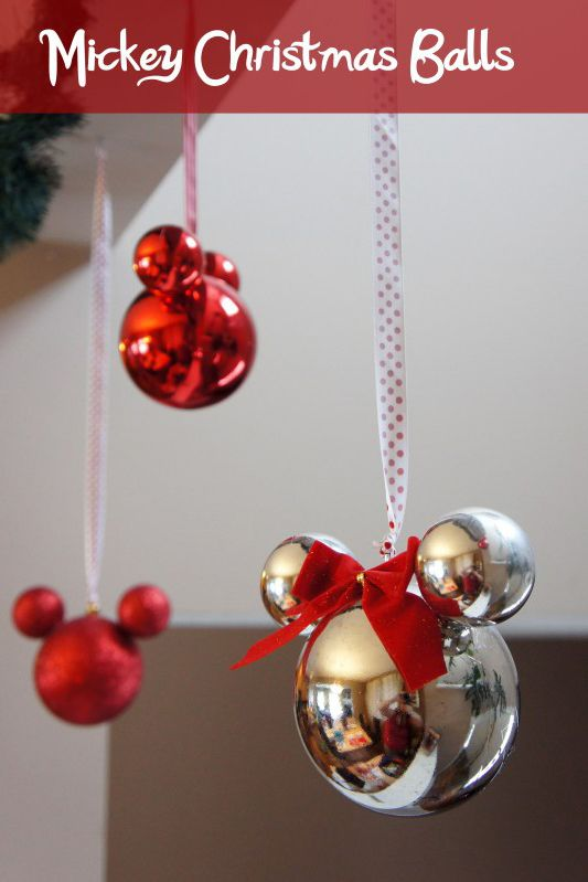You'll never look at Christmas ornaments the same way again after seeing  how easily they can be transformed into a classic Mickey. - 20 Disney Christmas Decorations For A More Magical Holiday