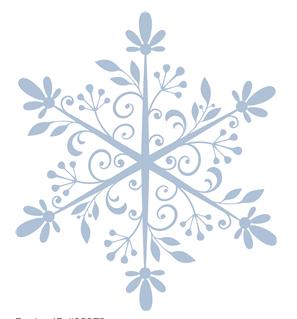 swirly snowflake by hero arts #23272