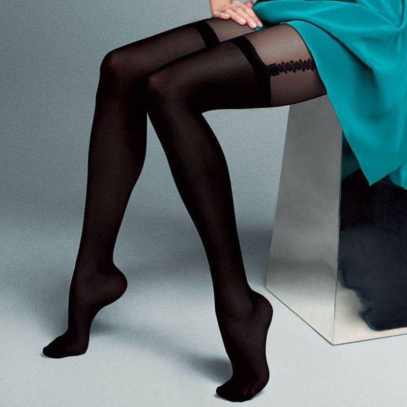 "Mock Suspender Tights Imitating Stockings Veneziana /""Dalia/"" 20//40 Denier"