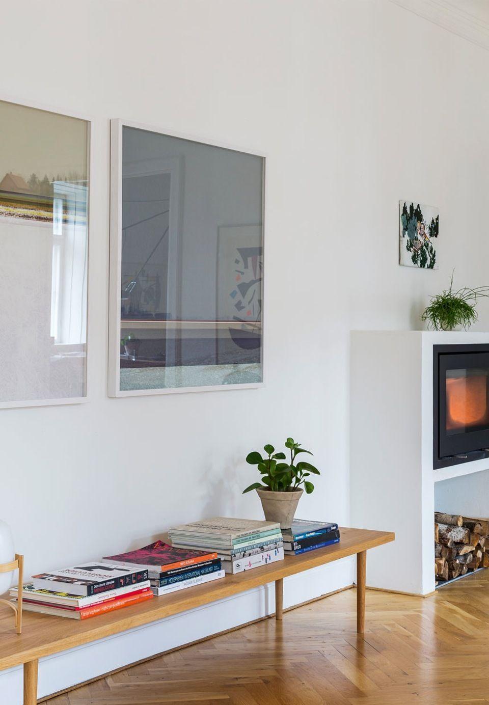 Photo of Billedkunstneren Anne Aarslands lyse lejlighed på Frederiksberg
