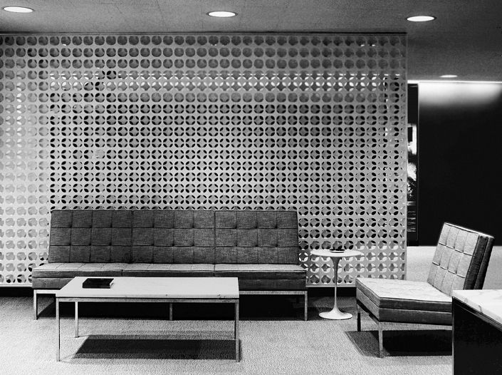 Erwin Hauer Screen Wall Look Magazine Offices Nyc Knoll Interiors