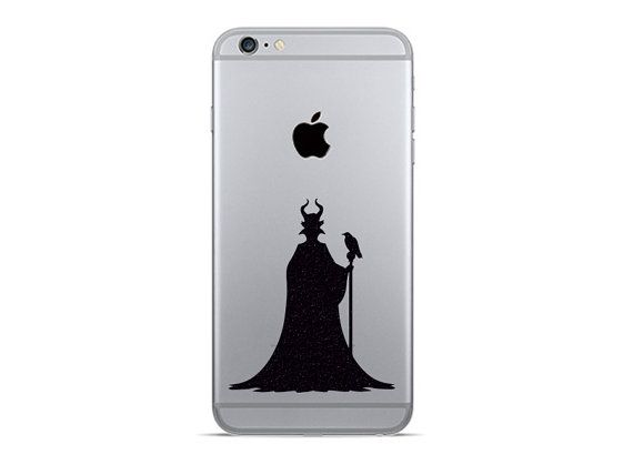 Maleficent téléphone Sticker - Stickers de tissu deux s6 Galaxy - 2 Reine du mal iPhone 6 Stickers - Samsung Galaxy s5 autocollant - iPhone 6 Plus Decor