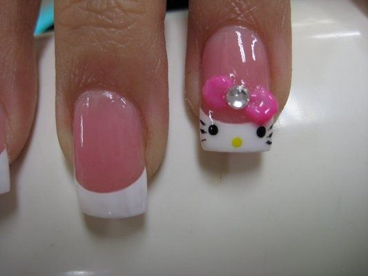 Hello kitty gel tip nail design im addicted pinterest hello hello kitty gel tip nail design prinsesfo Gallery