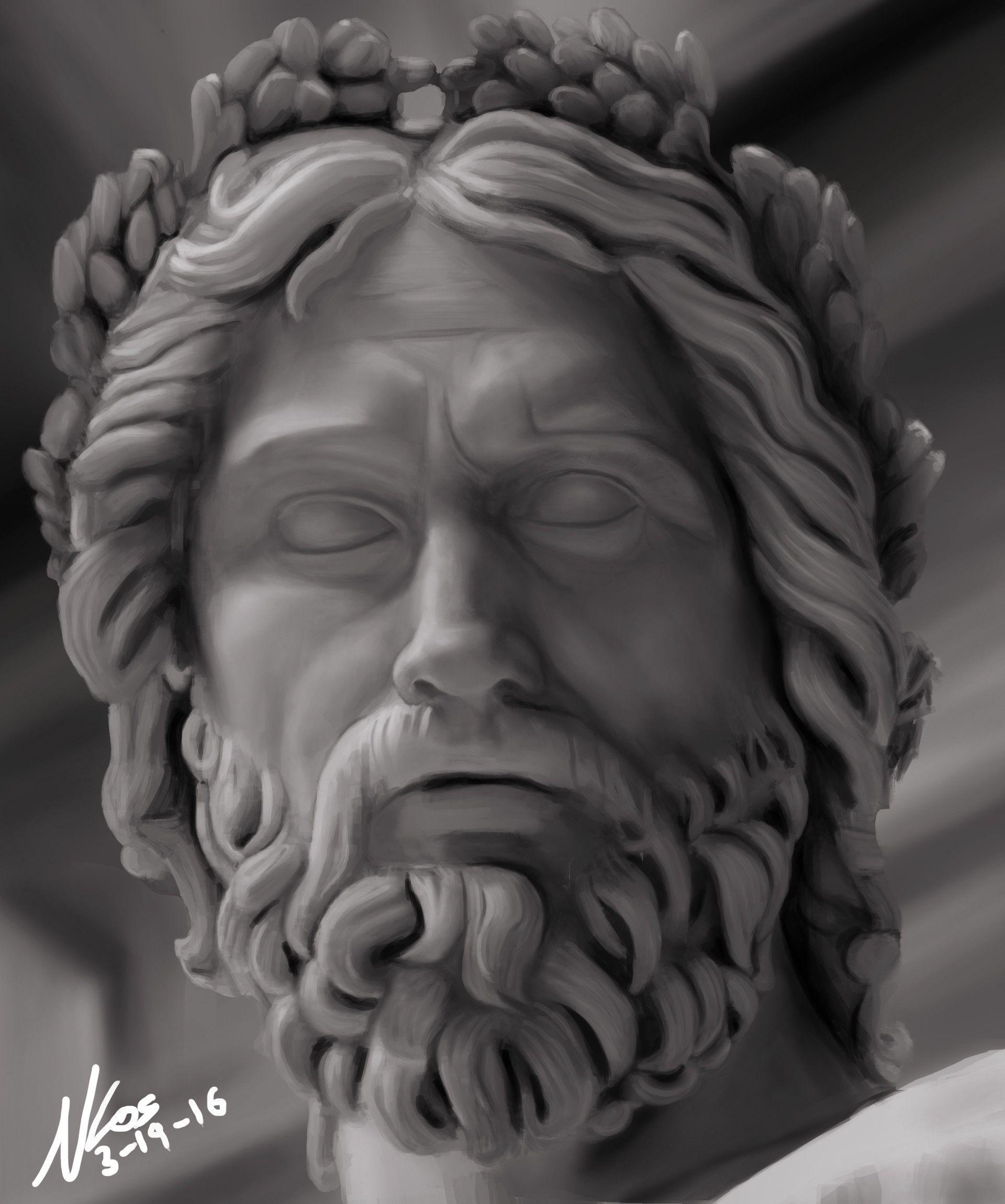 Image result for zeus statue head | Scuplture | Pinterest ...