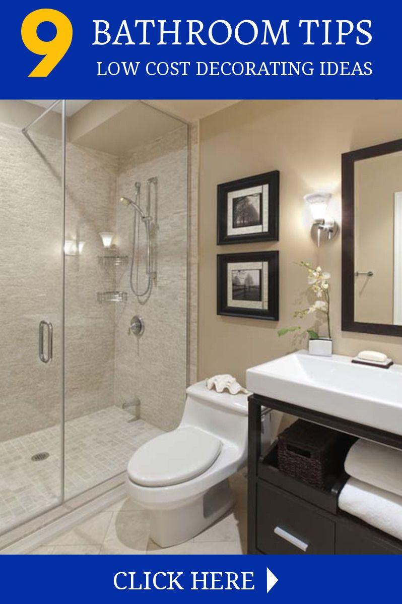 Decorating Tips For The Bathroom Small Full Bathroom Modern