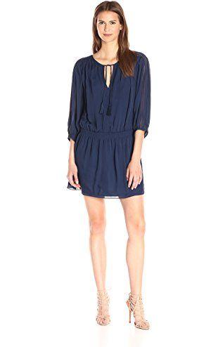 Joie Women's Baraz Silk Dress, Dark Navy, Medium ❤ Joie Women's Collection