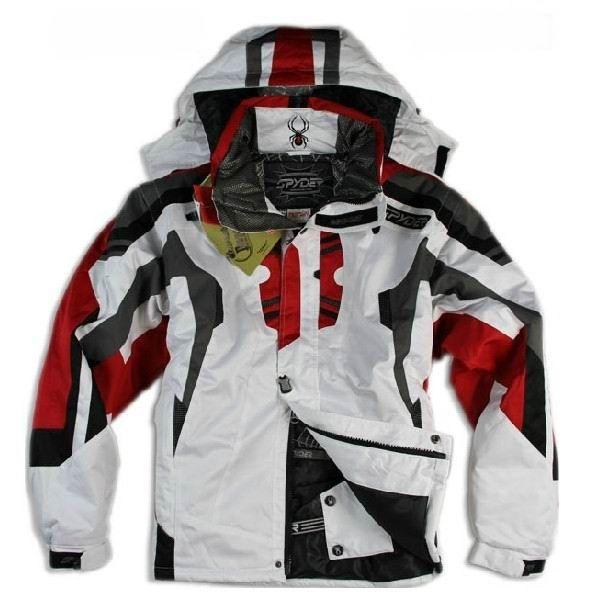 4bbd143259e Cheap Spyder Alpine Insulated Ski Snowboard Men Jackets White
