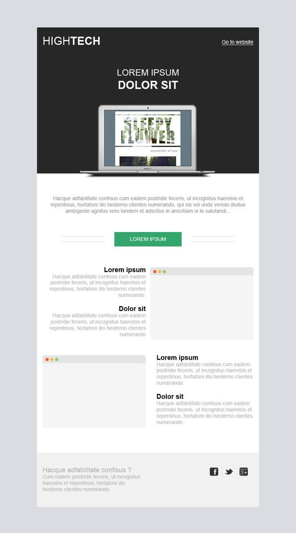 Template Email Responsive Hightech Pour Vos Newsletters Emailing Sarbacane Creation Graphique