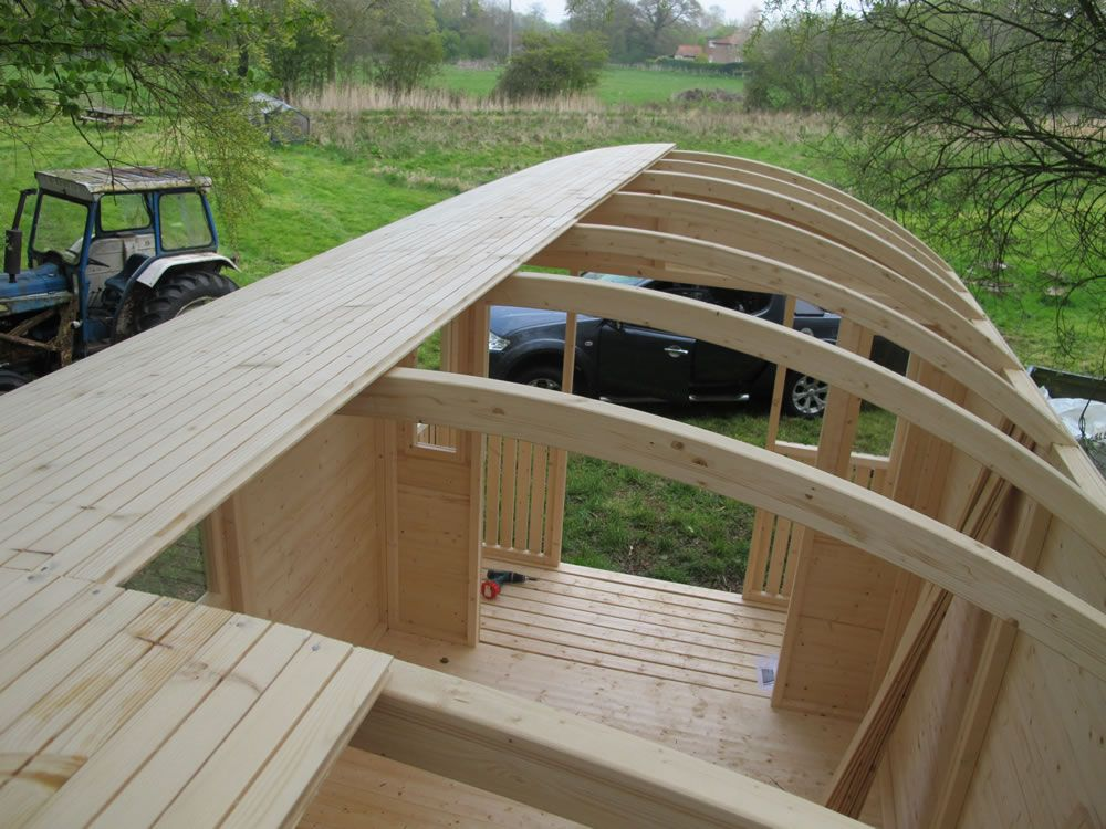 Roof boards on the gypsy wagon curved roofs pinterest for A frame hut plans