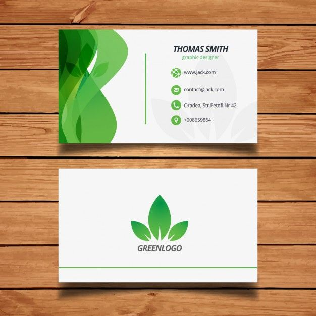 Green Design Nature Carte De Visite Vecteur Gratuit