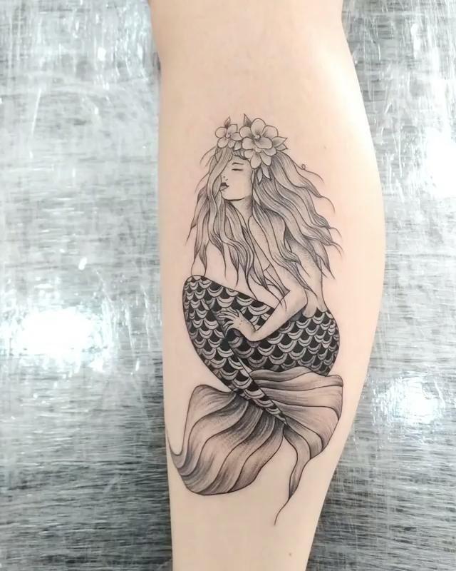 Photo of Tatuagem de sereia delicada