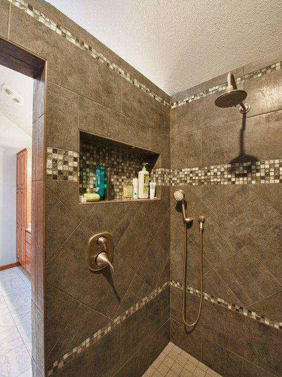 Niche traditional bathroom white tile bath design for Future bathroom designs