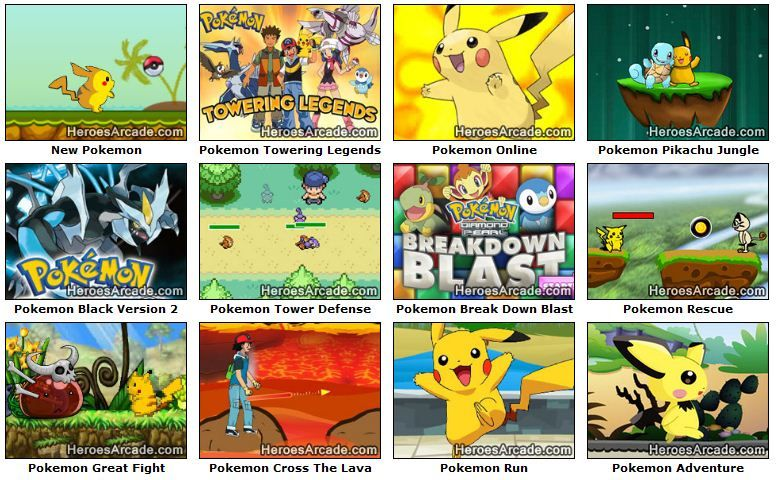 Play Pokemon Games Online At Heroesarcade Com Pokemon Games For Kids Pokemon Games Online Games