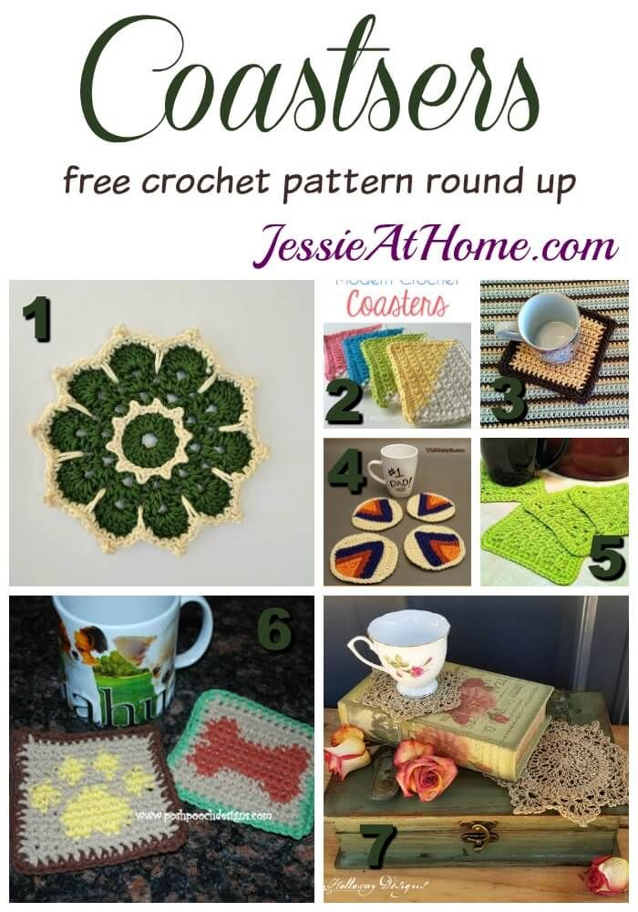 Coasters free crochet pattern round up from Jessie At Home   CROCHET ...