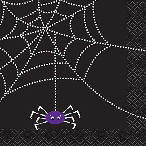 Spider Web Halloween Beverage Napkins, 16ct Unique   www - spider web halloween decoration