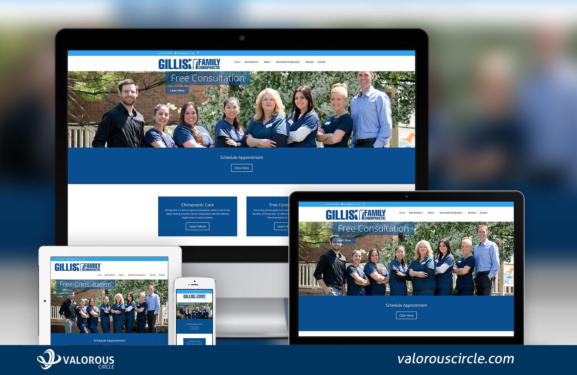 Gillis Family Chiropractic Valorous Circle Web Development Design Family Chiropractic Web Design