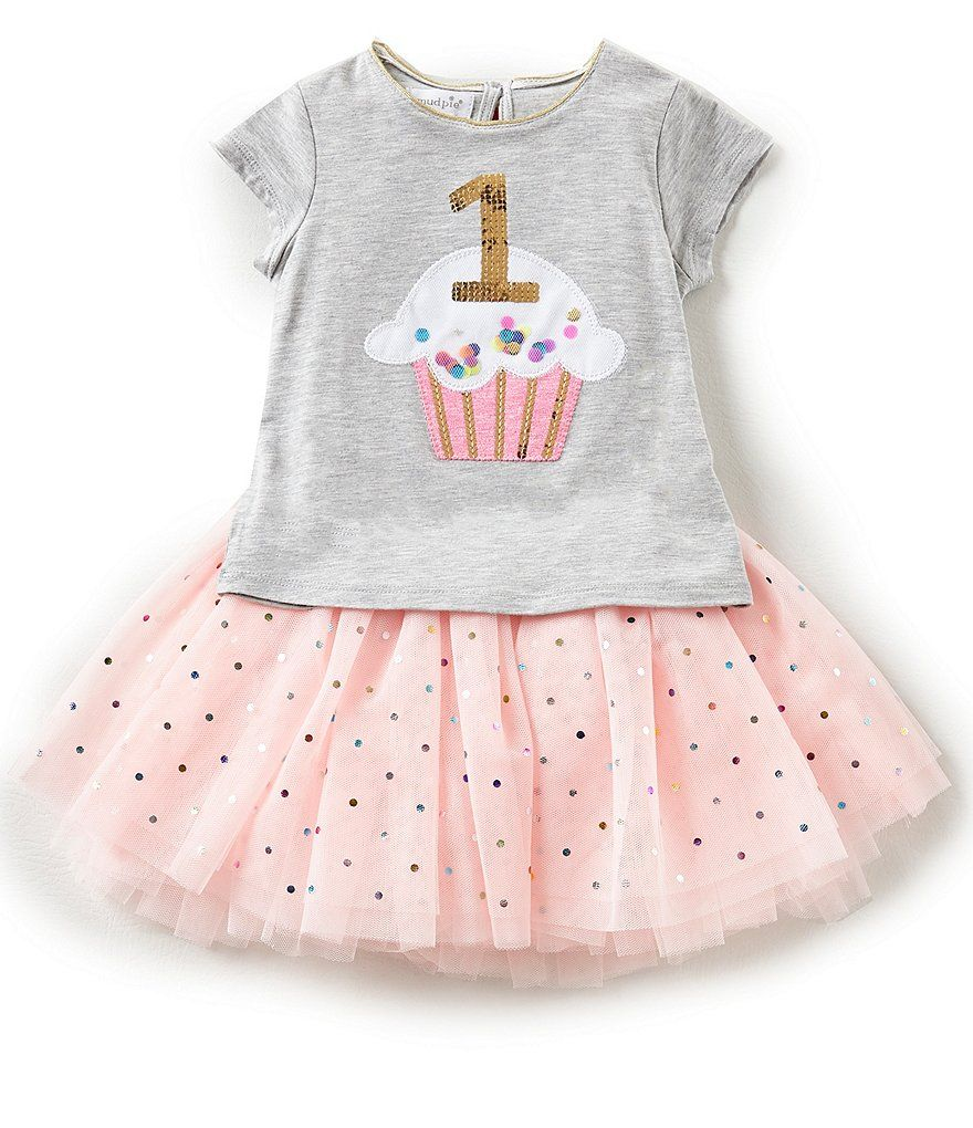 Mud Pie Baby Girls 12 18 Months 1 Tutu Birthday Top Skirt Set