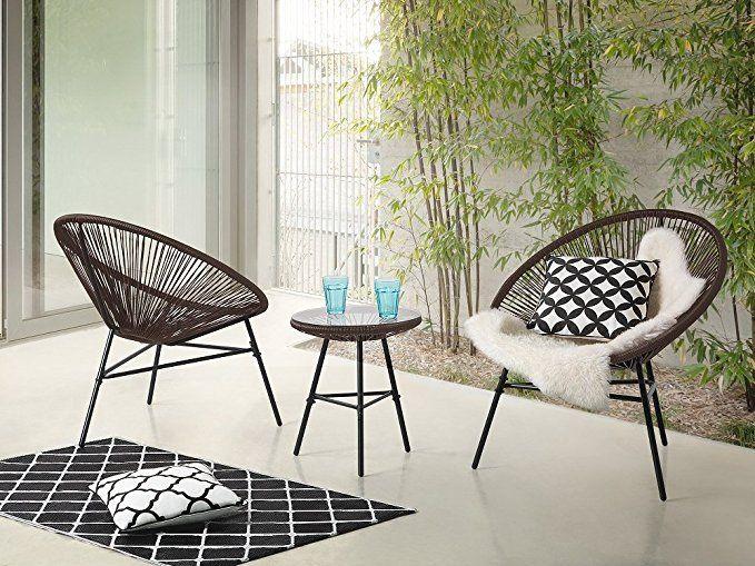 Pimp deinen Garten auf - Beliani Gartenmöbel Set Kunststoff - Das ...