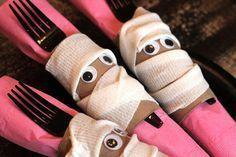 Kids' Party Napkin Folding Ideas #diynapkinfolding Kids' Party Napkin Folding Ideas — mummy place setting holders #diynapkinfolding Kids' Party Napkin Folding Ideas #diynapkinfolding Kids' Party Napkin Folding Ideas — mummy place setting holders #napkinfoldingideas