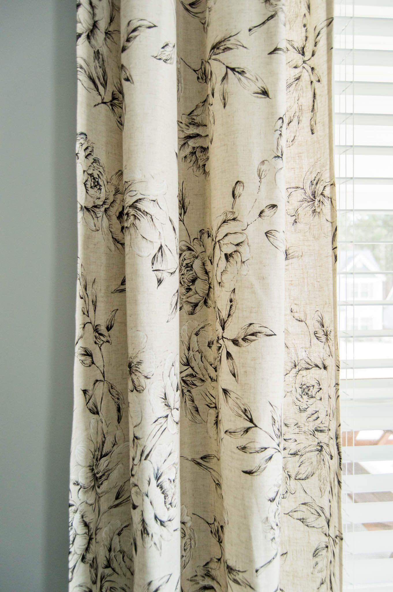 the perfect farmhouse floral curtains my curtain hanging hacks farmhouse style curtains on farmhouse kitchen curtains id=48634
