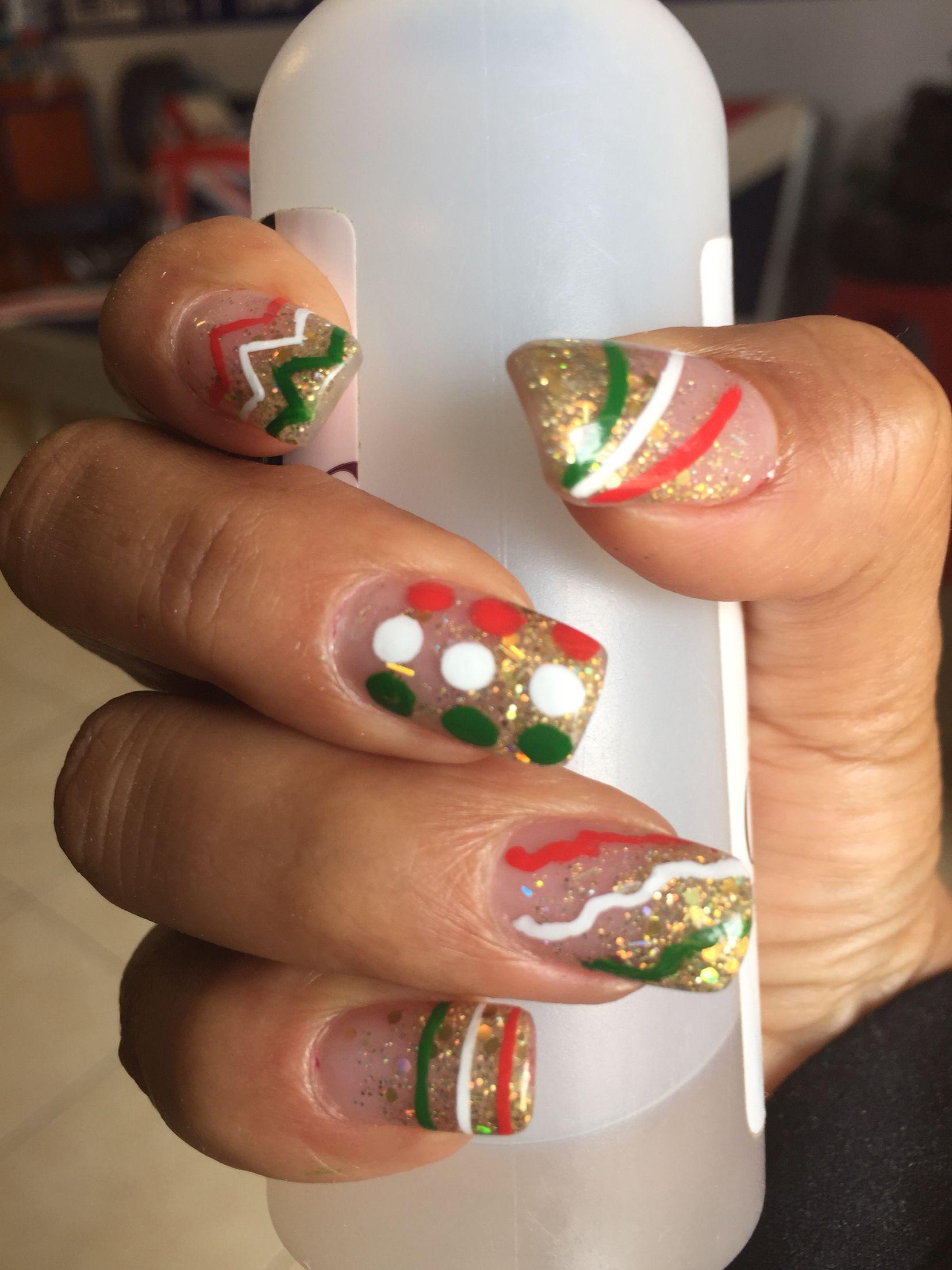 Uñas acrílicas para las fiestas patrias | Diseño de uñas | Pinterest