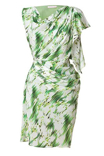 Matthew Williamson Mint Draped Silk Dress