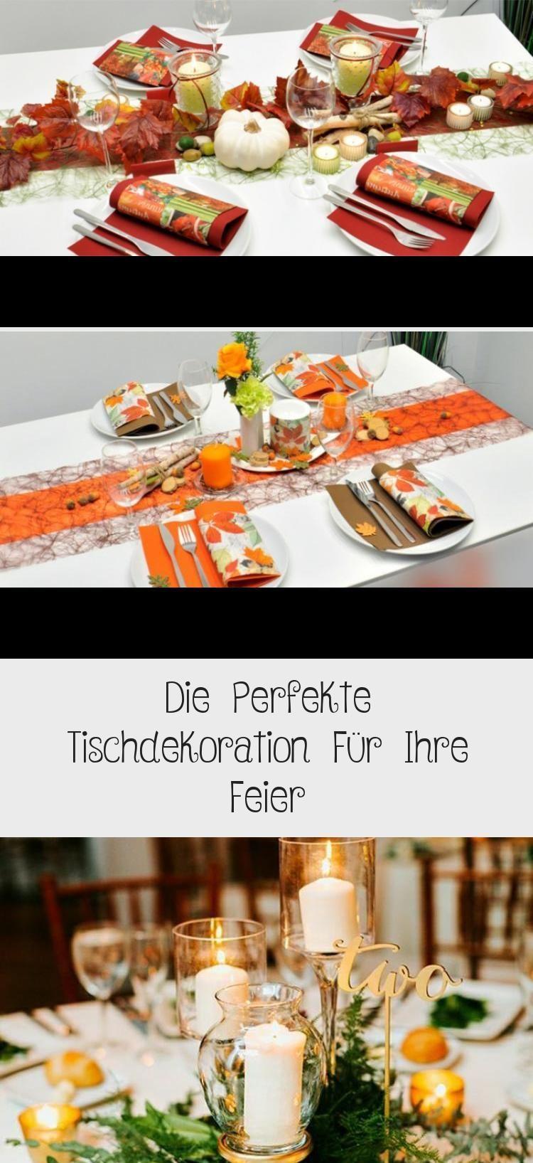 Photo of #die #Feier #für #Herbst Dekoration Tischdekoration #Ihre #perfekte