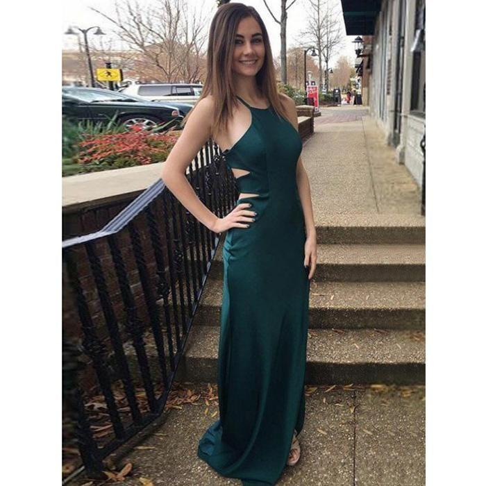 1dca4391f0d Popular Sexy Open Back Mermaid Simple Cheap Long Prom Dress