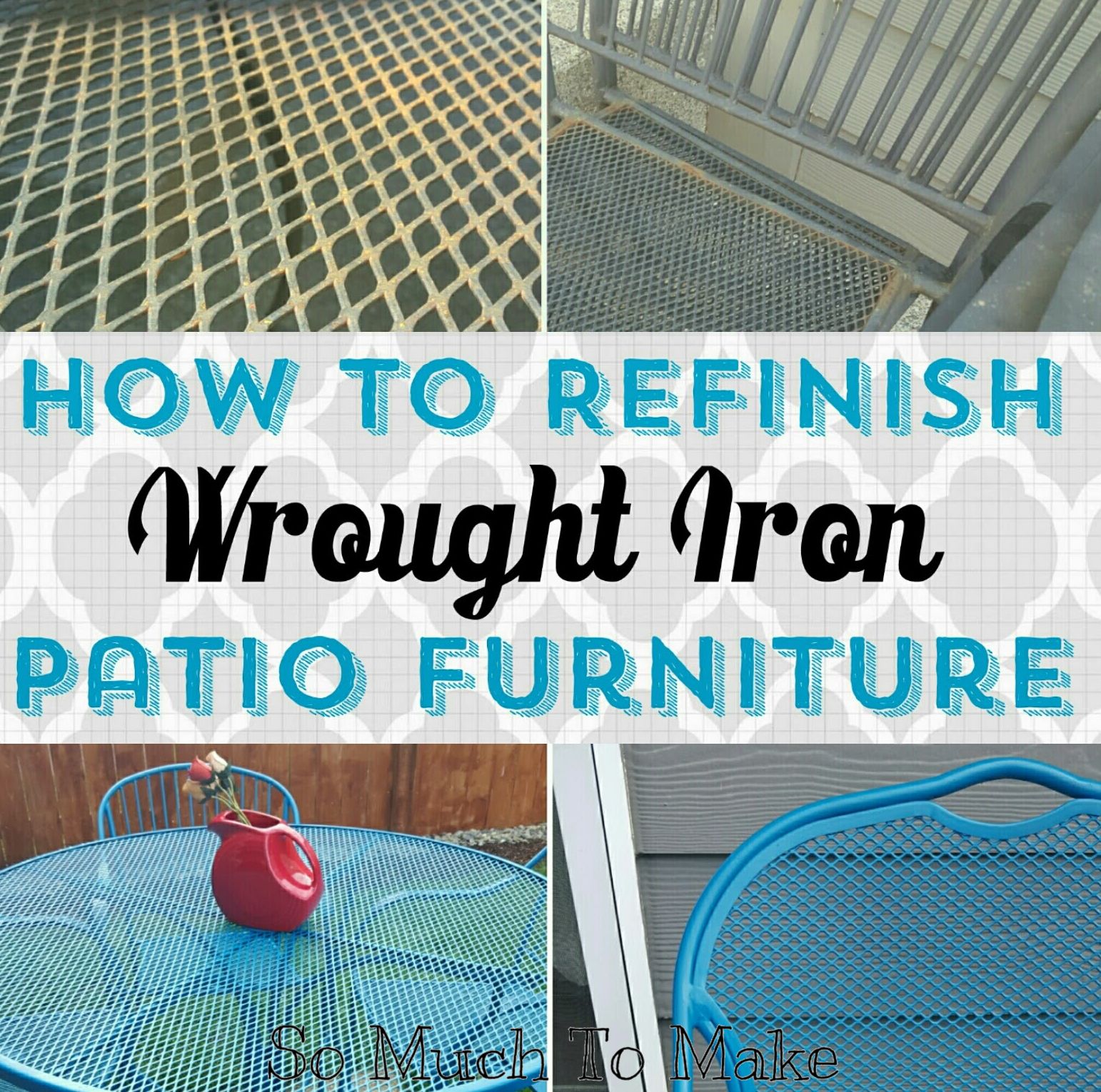 How to Refinish Wrought Iron Patio Furniture | Iron patio furniture ...
