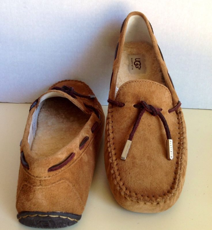 2831729552d New UGG Classic Womens Tie Bow Moccasin Suede Driving Shoes ...