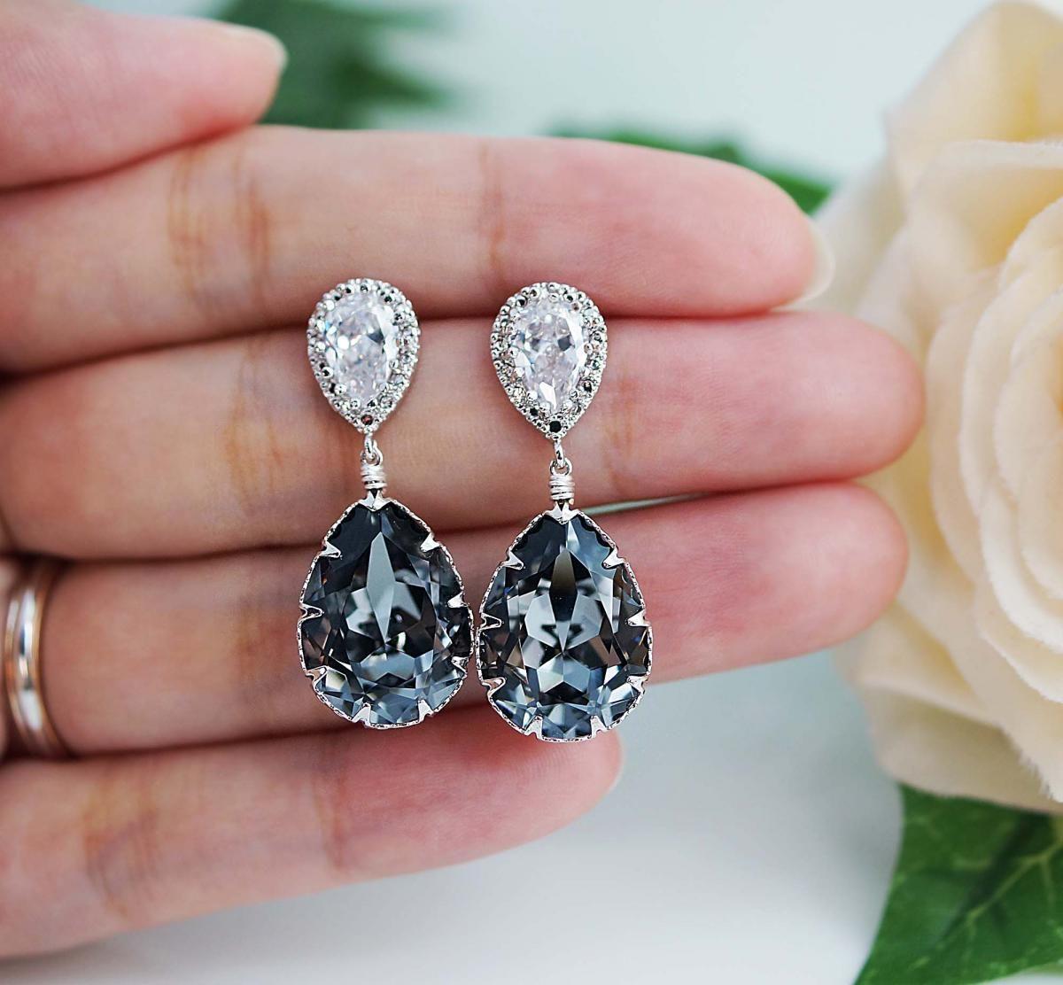 Bridal Earrings Bridesmaid Earrings cubic zirconia ear wires and ...