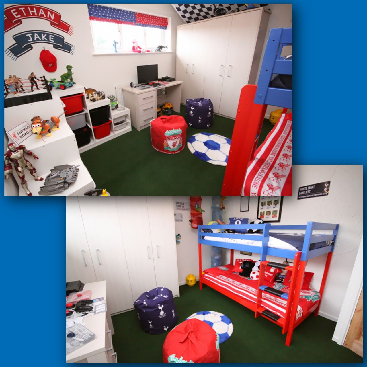 Ethan wished for a footballthemed bedroom makeover