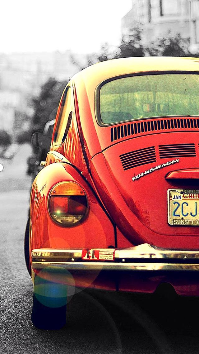 Red Vintage Beetle Photography Pinterest Iphone Wallpaper