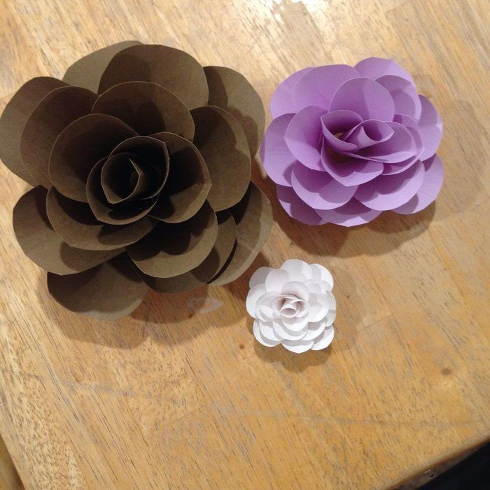 Cardstock Paper Flowers Paper Art Easy Paper Flowers How To