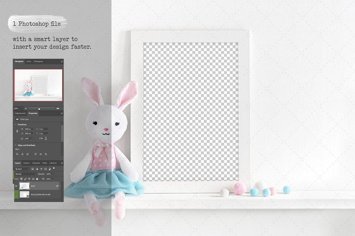 A4 nursery frame mockup in 2020 Nursery frames, Frame