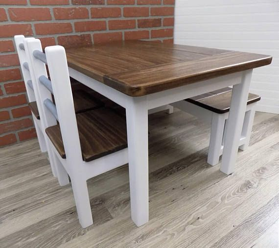 Tremendous Kids Farmhouse Table Kids Table Set Kids Furniture Short Links Chair Design For Home Short Linksinfo