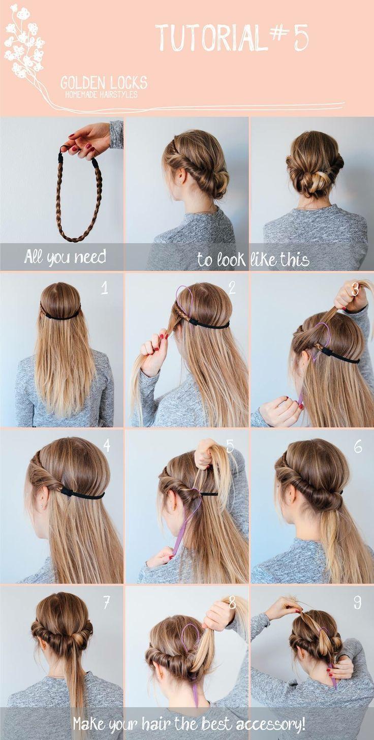 Hairstyles Frisuren Haar Styling Haarband Frisur