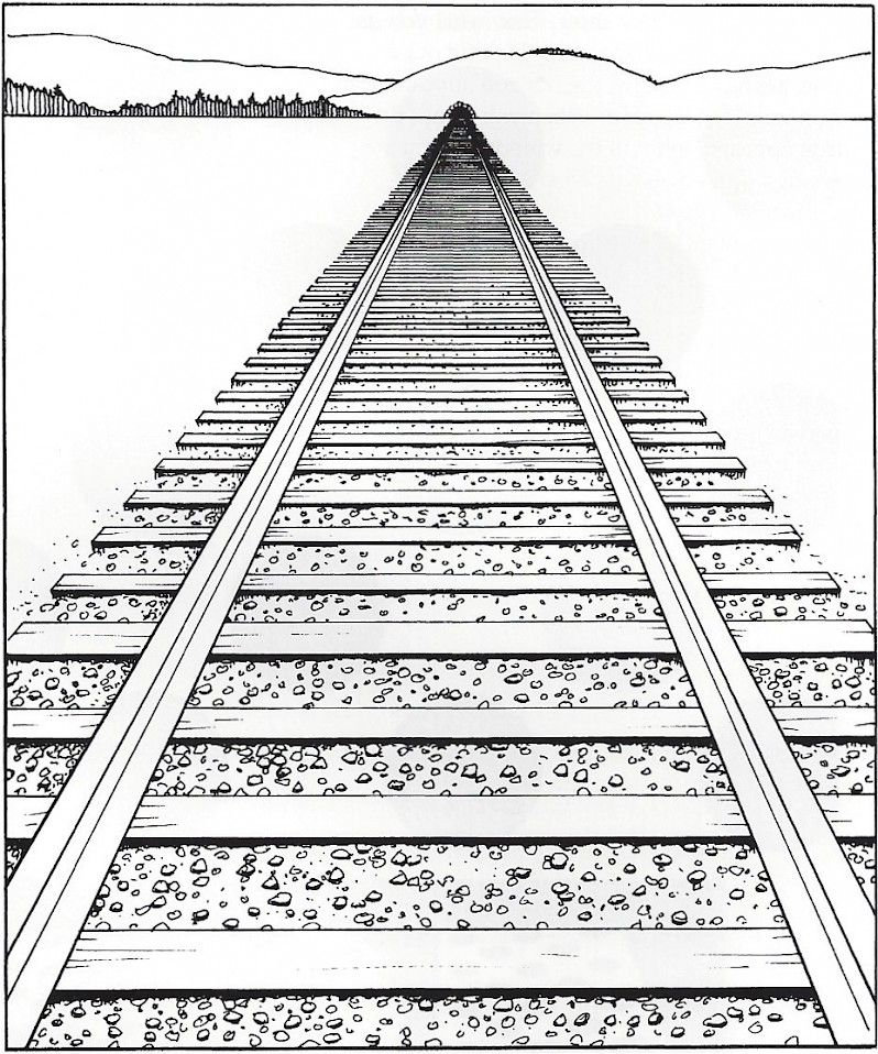 Horizon Line Art Definition : Linear perspective lines and vanishing points used to
