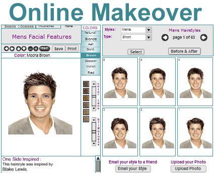 Men Hairstyles Virtual Hairstyler For Hair Styles Virtual Hair Makeover Hair Makeover Mens Facial