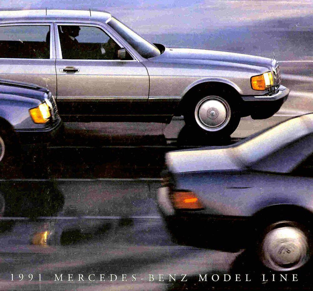 1991 Mercedes Benz Brochure 190e 300d 300e 300sel 420sel 560sec 300sl 500sl In 2020 Mercedes 220 Mercedes Benz Mercedes Benz Classic