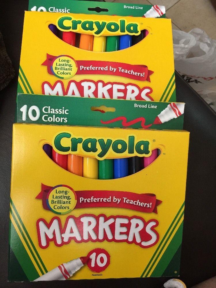 Crayola Broad Line Non Toxic Brilliant Lasting Assorted Color