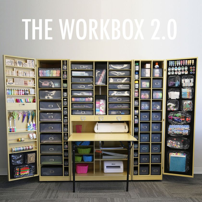 Wow Just Wow Scrapbook Storage Folds Up Into A Cabinet: homemade craft storage ideas